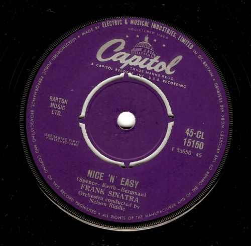 FRANK SINATRA Nice 'N' Easy Vinyl Record 7 Inch Captiol 1960